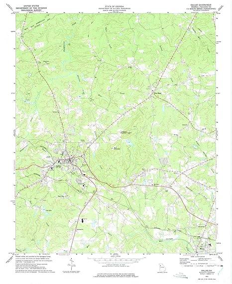 Amazon Com Yellowmaps Dallas Ga Topo Map 1 24000 Scale 7 5 X 7 5