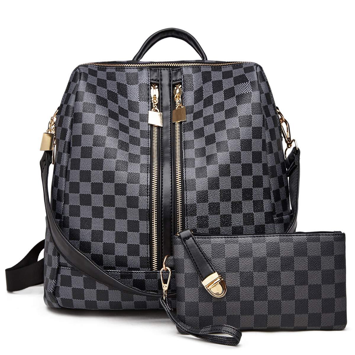 d4dd1c92d57d Backpack for women Fashion Leather Ladies Rucksack Crossbody Shoulder Bag  2pcs Purses Backpack Set