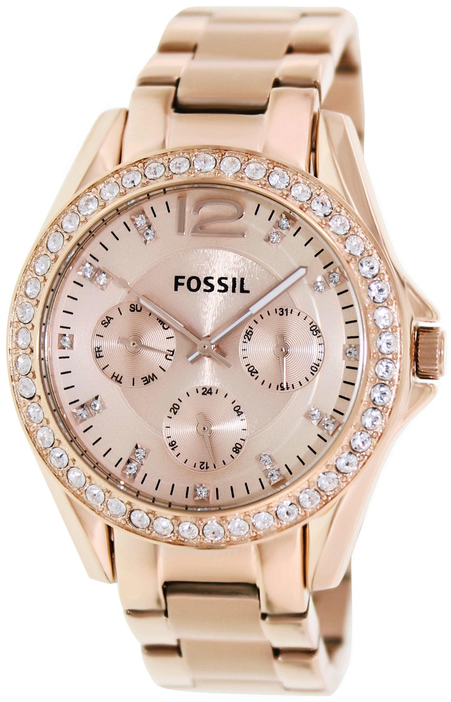 87a46348d4c6 Reloj Fossil Riley Multifunción Rose dorado para mujer ES2811 Precio ...