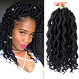 6pack Faux Locs crochet hair with Curly Ends 12 roots/pack Synthetic Hair Crochet Braids Goddess Fauxs Locs Crochet…
