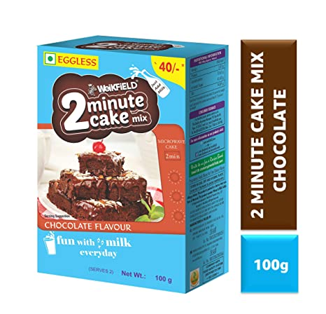 Weikfield 2 Minute Cake Mix, Chocolate, 100g: Amazon in