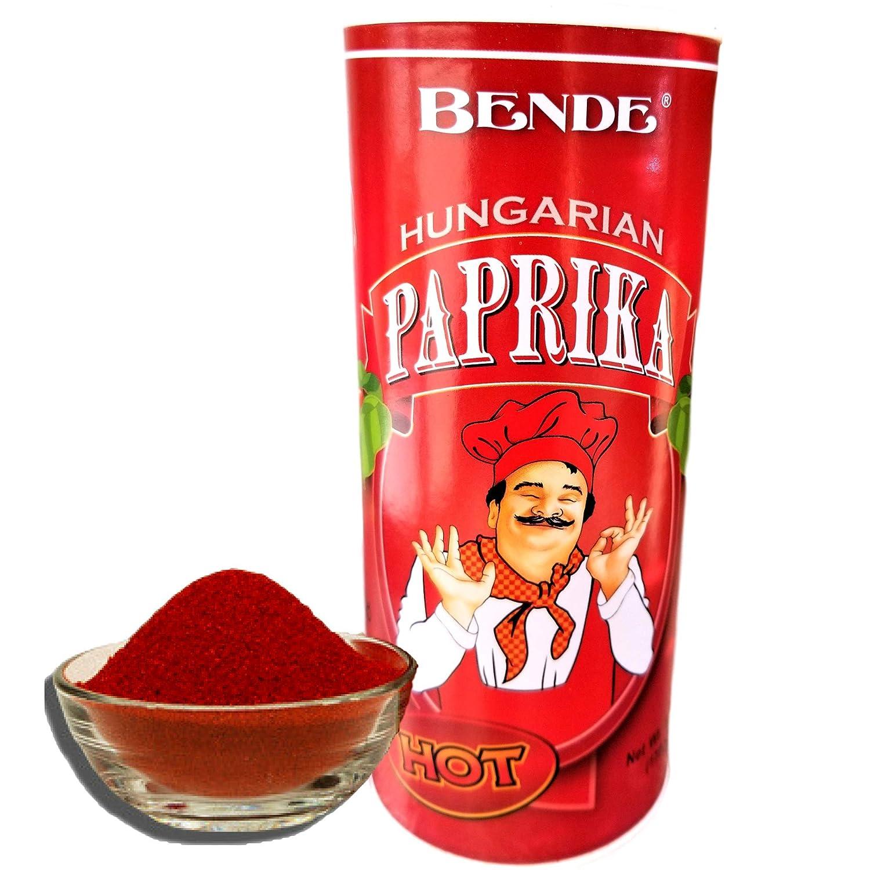 Hungarian Paprika Powder (Bende Hungarian Hot Paprika), From Szeged Hungary 5.29Oz (150g) Tin