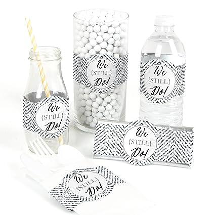 We Still Do 10th Wedding Anniversary Diy Party Supplies Wedding Anniversary Party Diy Wrapper Favors Decorations Set Of 15