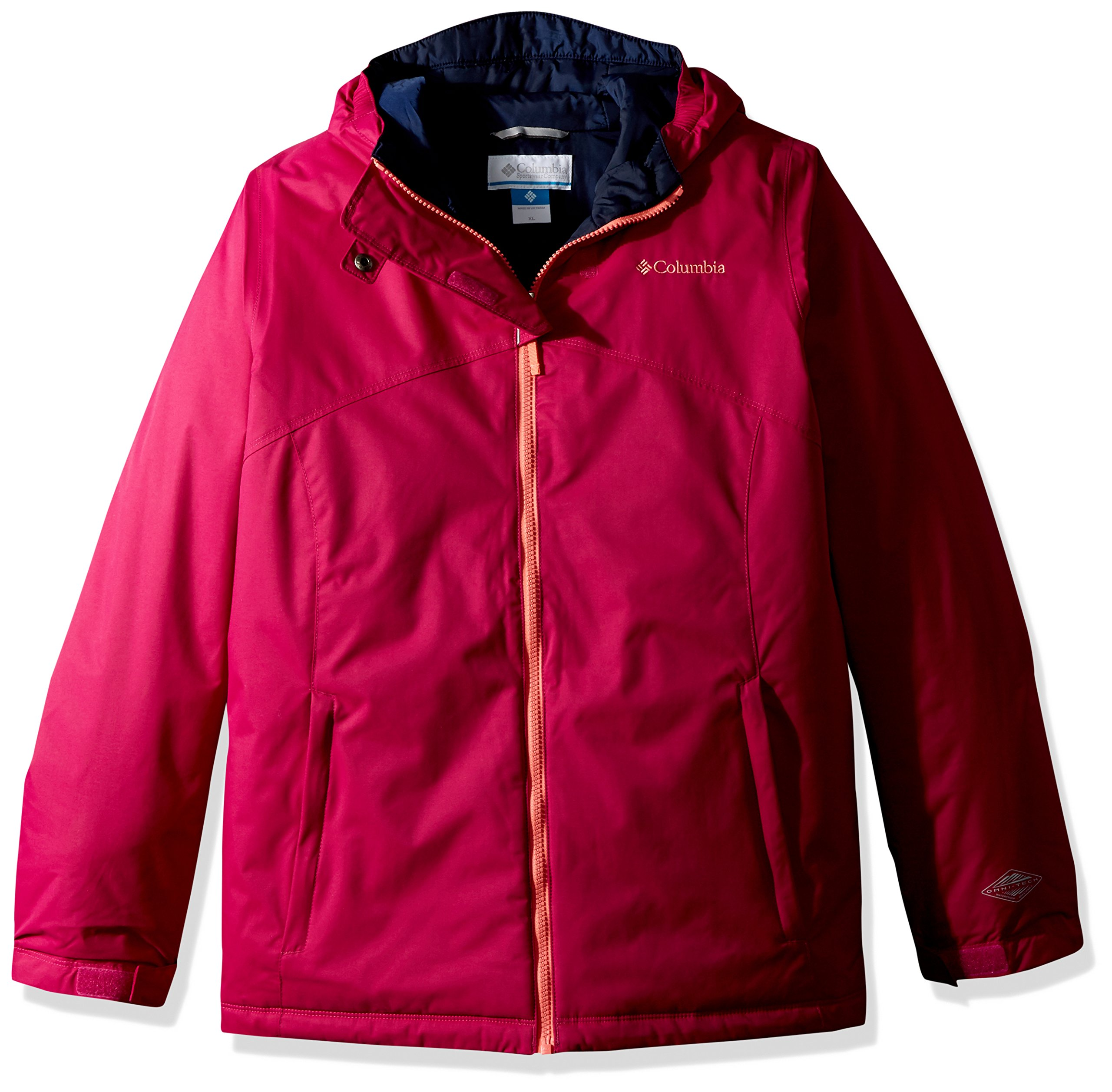 Columbia Girls Crash Course Jacket, Deep Blush, Large by Columbia