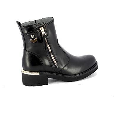 Image Unavailable. Image not available for. Color  Nero Giardini Women s  A807152d100 Black Leather Ankle Boots d82c7ed22e5