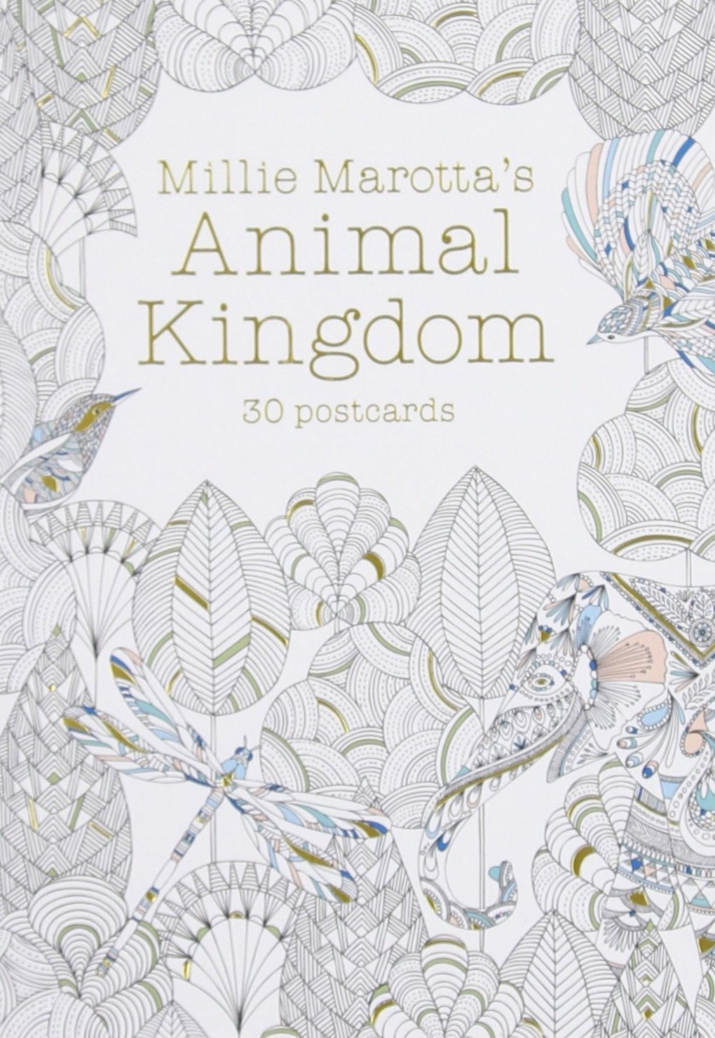 Amazon Millie Marottas Animal Kingdom Postcard Book 30 Postcards A Marotta Adult Coloring 9781454709350 Books