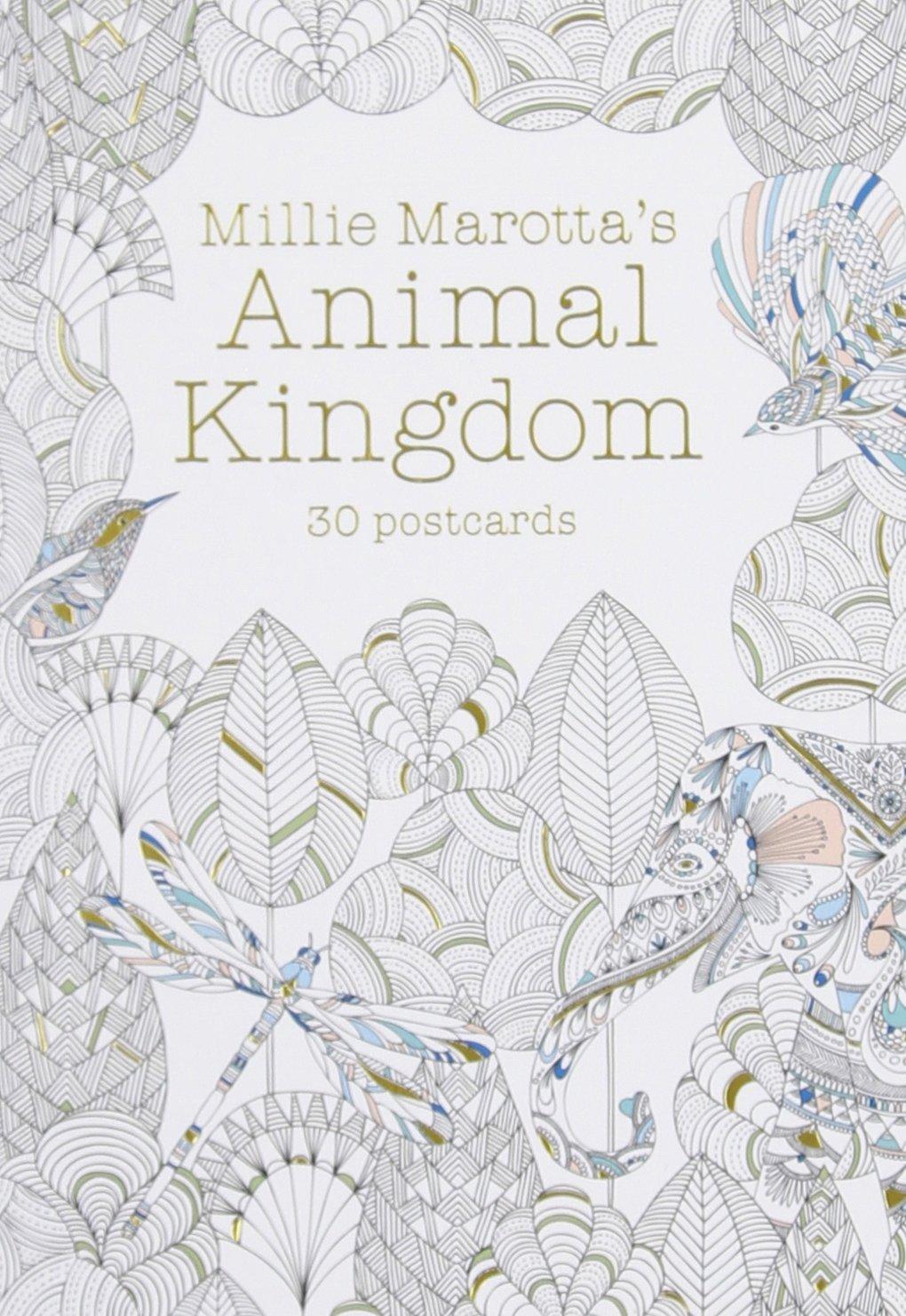 Millie Marottas Animal Kingdom Postcard Book 30 Postcards Marotta Adult Coloring Amazoncouk 9781454709350 Books