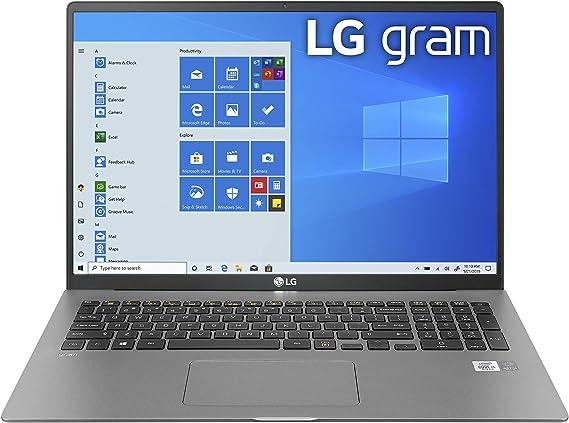 """LG Gram Laptop - 17"""" IPS WQXGA (2560 x 1600) Intel 10th Gen Core i7 1065G7 CPU, 16GB RAM, 1TB M.2 NVMe SSD (512GB x2), 17 Hour Battery, Thunderbolt 3 - 17Z90N (2020)"""