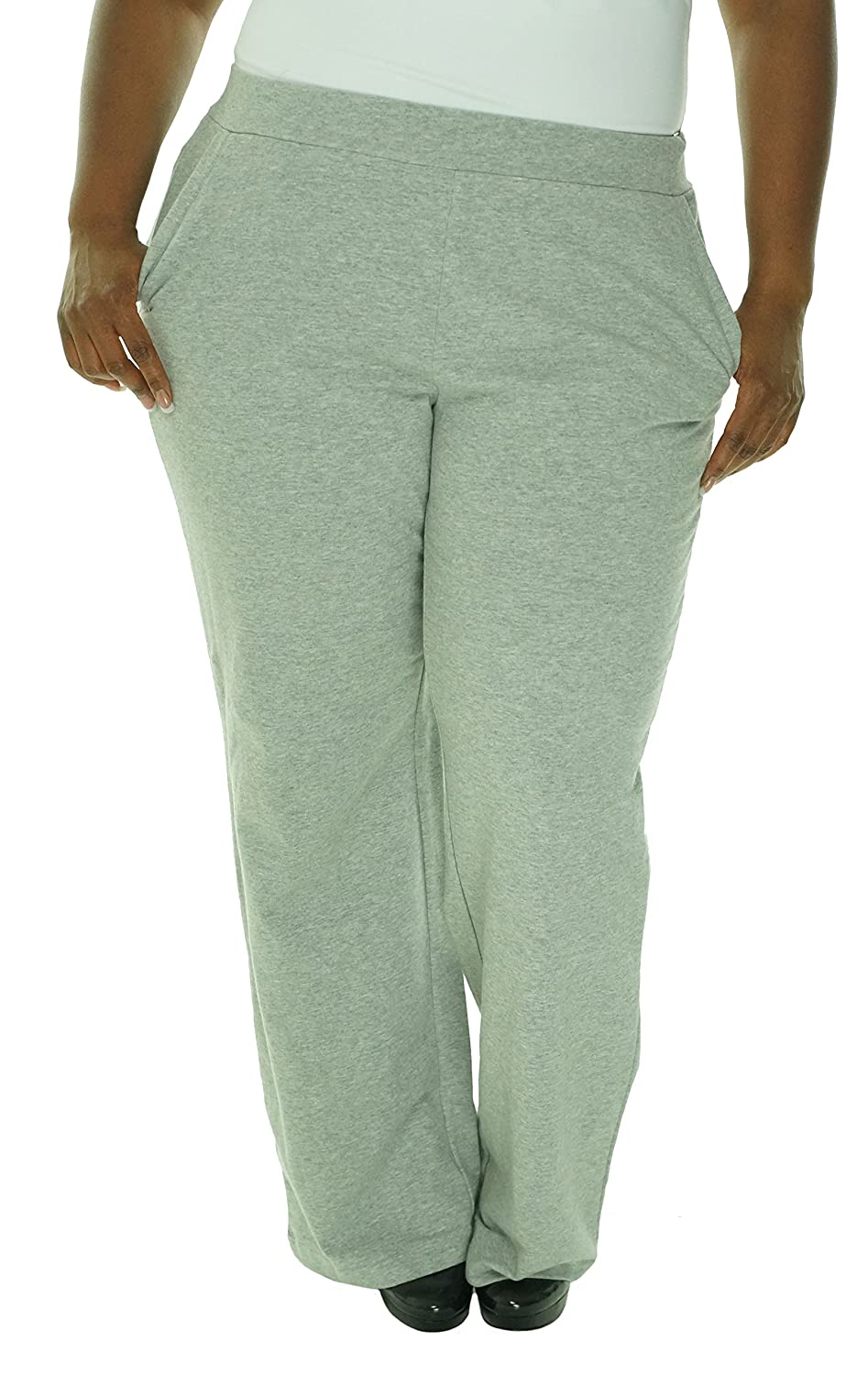 Charter Club Women's Weekend Pant, Heather Platinum, 0X