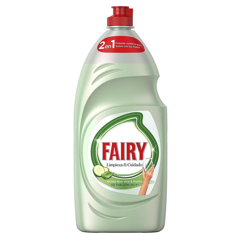 Fairy Limpieza y Cuidado Líquido Lavavajillas de Aloe Vera y Pepino - 4 Paquetes de 1015 ml - Total: 4060 ml