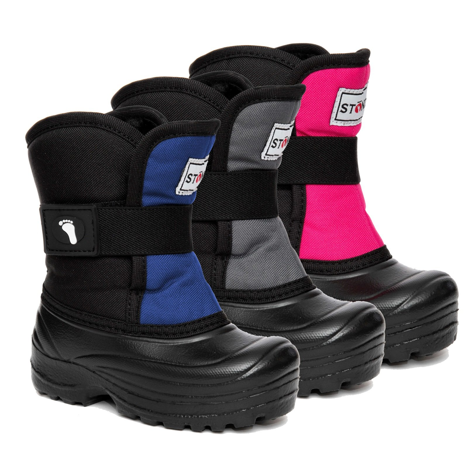 Stonz Scout Winter Boots for Cold Weather, Snow, Ice and Winter Sports - Insulated, Super Light & Warm - Pink/Black, 7T by Stonz (Image #2)