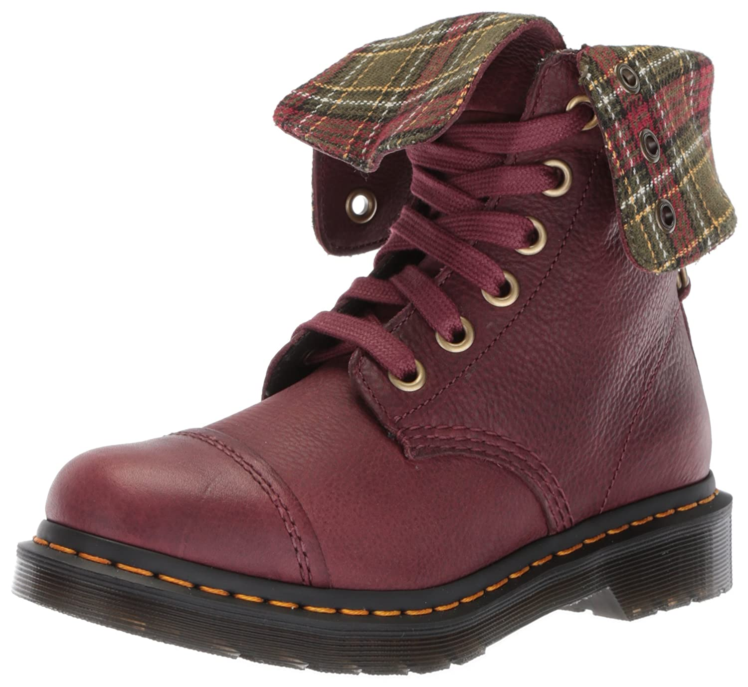 Dr. Martens Women's Aimilita FL Cherry Red Ankle Boot B071YSD7X4 8 Medium UK (10 US)|Cherry Red