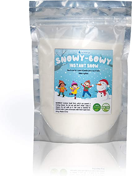 Fake Artificial Fluffy Snow Powder Instant Snow To Go Decor 1 GAL-Just Add Water