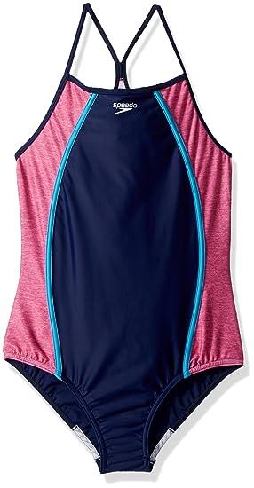 973dbfd465c0d Amazon.com : Speedo Girls Heather : Clothing