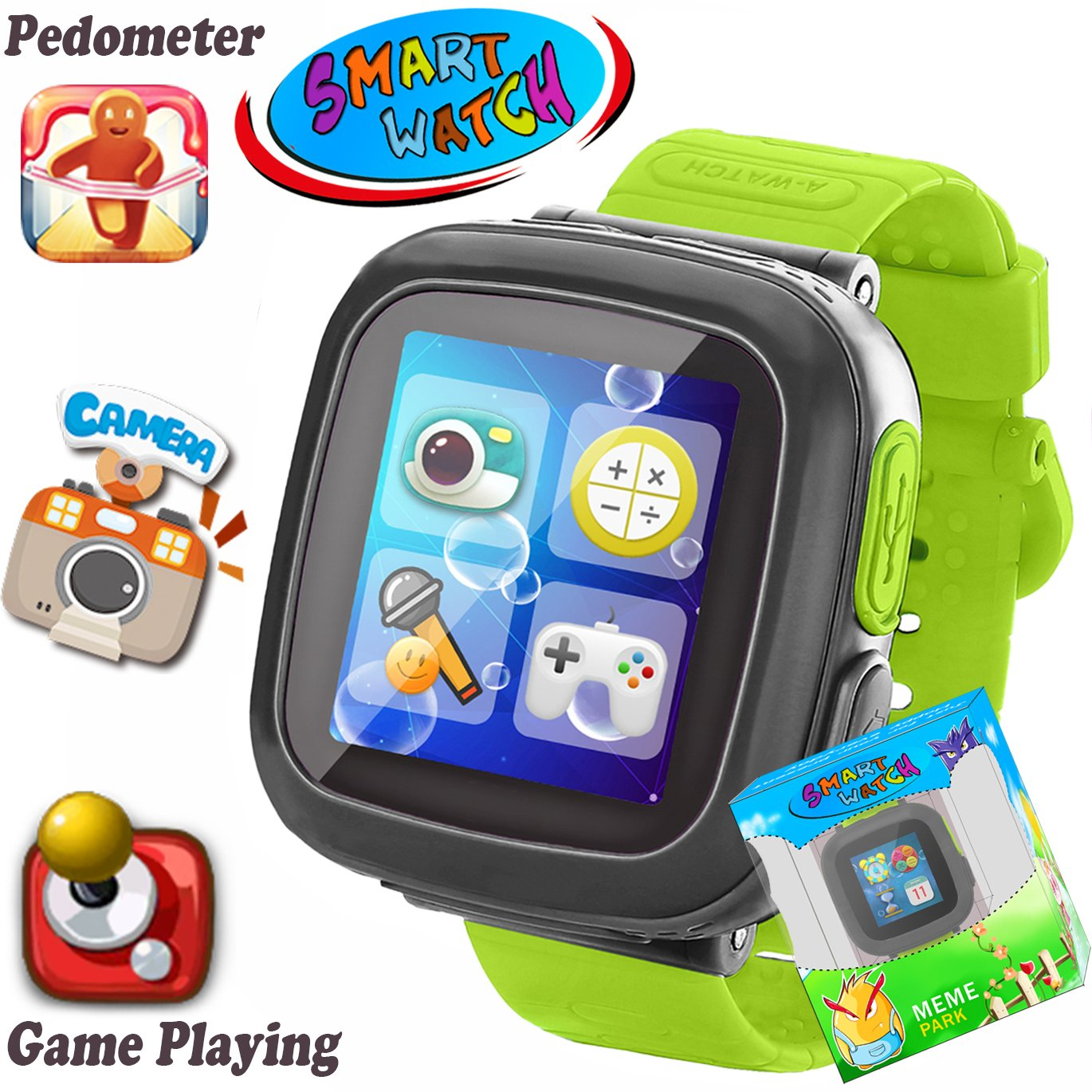 """Kids Game Smart Watch [AR Pro Edition] for 3-12 Year Girls Boys Learning Wrist Watch with 1.5"""" Touchscreen Camera Pedometer Timer Alarm Clock Fitness Tracker Puzzle Toys Birthday Christmas"""