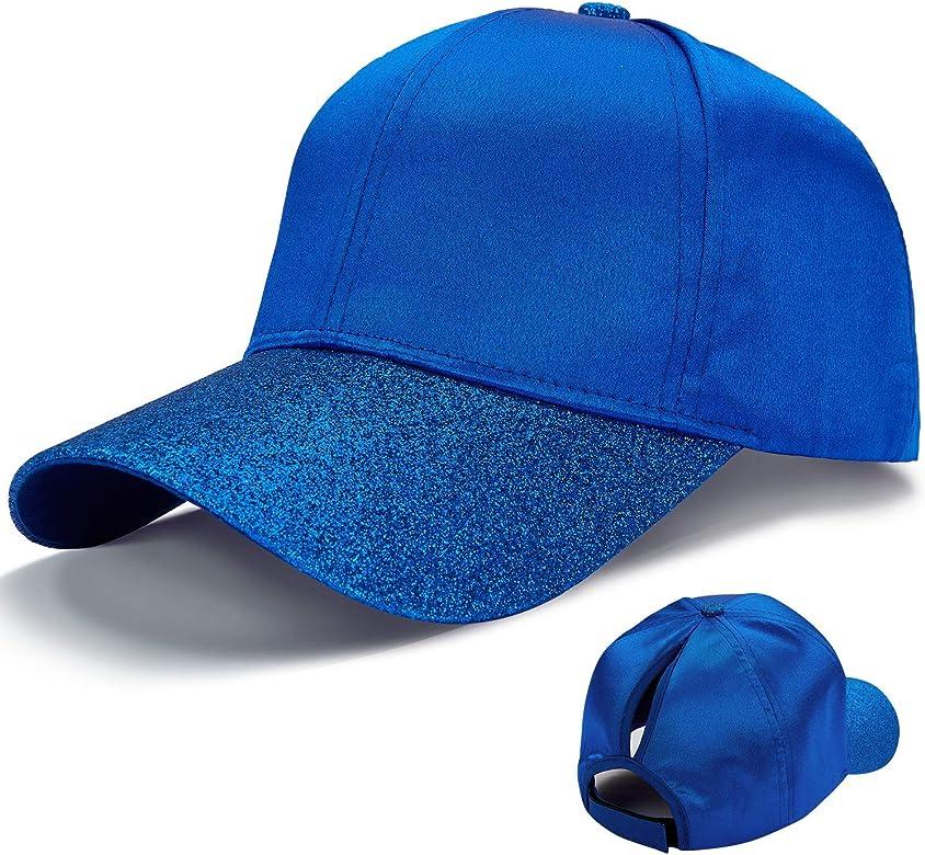 LIVACASA Gorras de Béisbol para Mujeres Baseball Cap para Deportes 1 Pcs Brillante Cola de Caballo para Verano Chicas Azul: Amazon.es: Ropa y accesorios