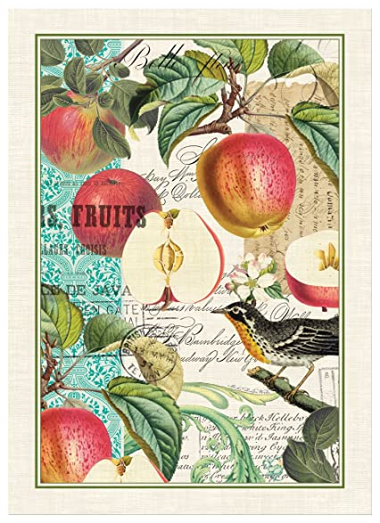 Michel Design Works Sweet Apple Cotton Kitchen Towel, Multicolor