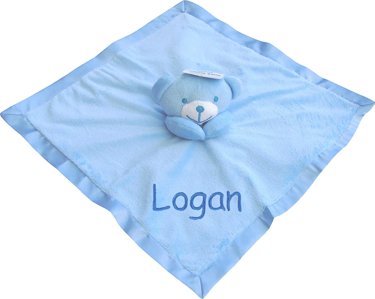 Baby Super Soft Personalised Name /& Date Comforter Blanket with 3D Teddy Bear White /& Neutral