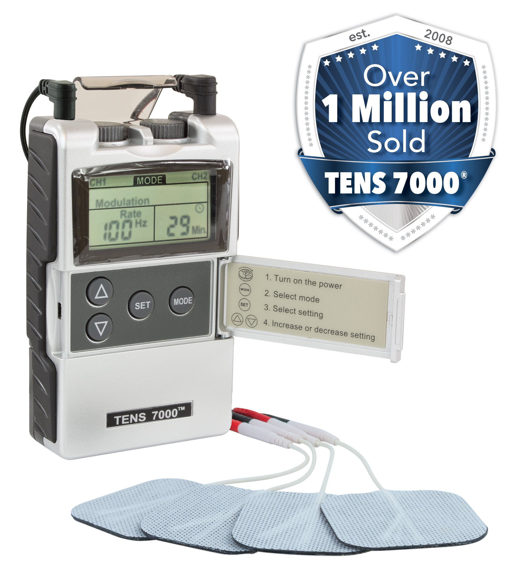 TENS 7000 2nd Edition Digital TENS Unit with Accessories ...
