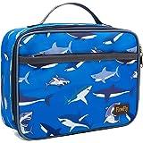 FlowFly 儿童午餐盒隔热软袋迷你冷藏箱回学校保暖餐手提包,适合女孩、男孩、女士、男士 鲨鱼色 FW-US-IB01S-BS1