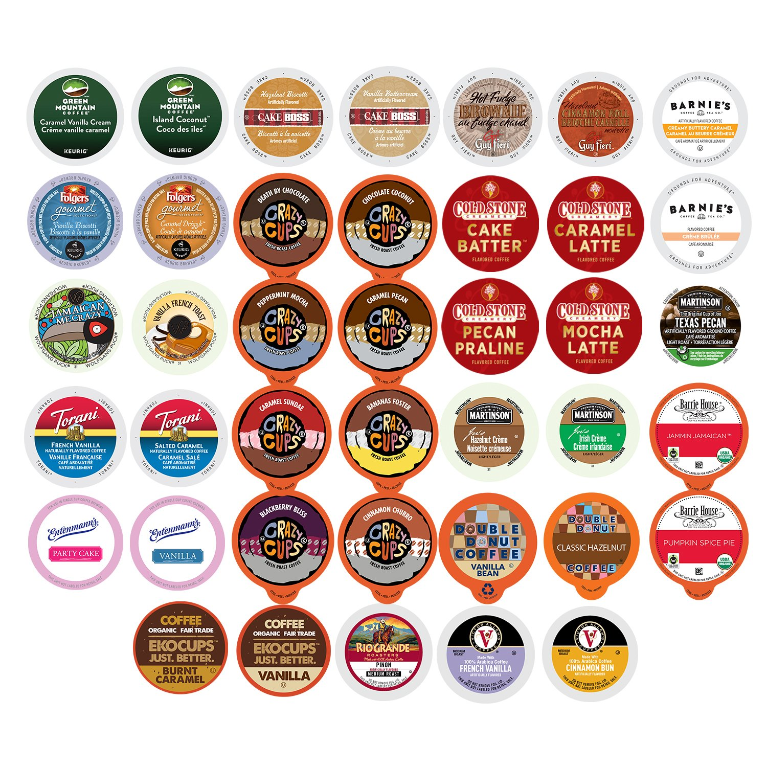 Flavored Coffee Variety Sampler Pack for Keurig K-Cup Brewers, 40 Count by Custom Variety Pack
