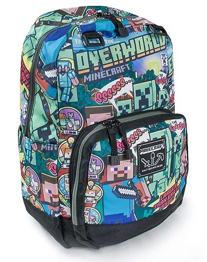 b9366db2d Minecraft Steve Overworld Backpack: Amazon.co.uk: Luggage