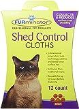 Furminator 105007 Cat Shed Control Cloths, 12-Count