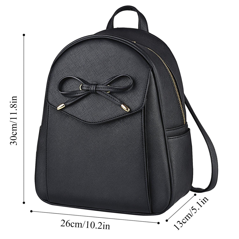 38547ada802c9 Coofit Damen Rucksack Kleiner Rucksack Schwarz Mini Backpack lederrucksack Schulrucksack  Daypack Tasche Schulranzen größeres Bild