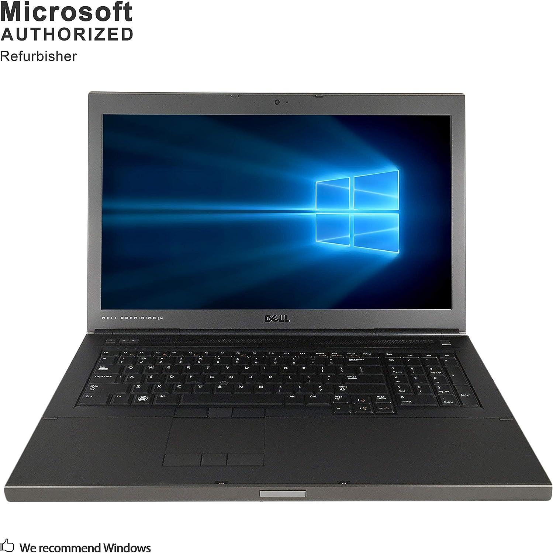 Dell Precision M6600 17.3 Inch Workstation Laptop, Intel Core i7-2720QM up to 3.3GHz, 8G DDR3, 500G, VGA, HDMI, DP, Windows 10 Pro 64 Bit Multi-Language Support English/French/Spanish(Renewed)