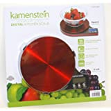Kamenstein Stainless Steel Digital Kitchen Scale (Red)