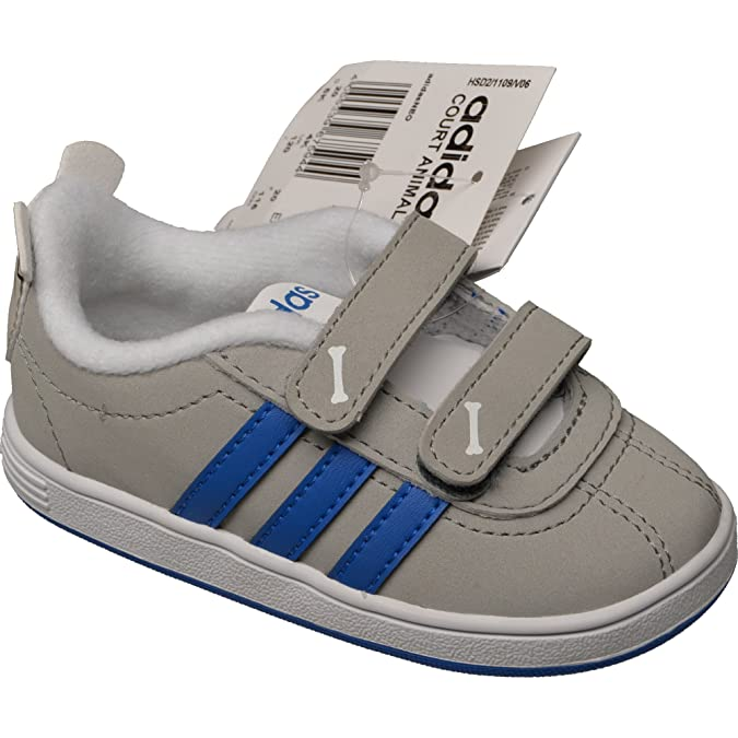 Adidas Neo Court Animal Infants Unisex Trainers, F98868 , Grau