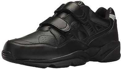 Propet Womens Stability Walker Strap Walking Shoe White Leather Size 16 Narrow