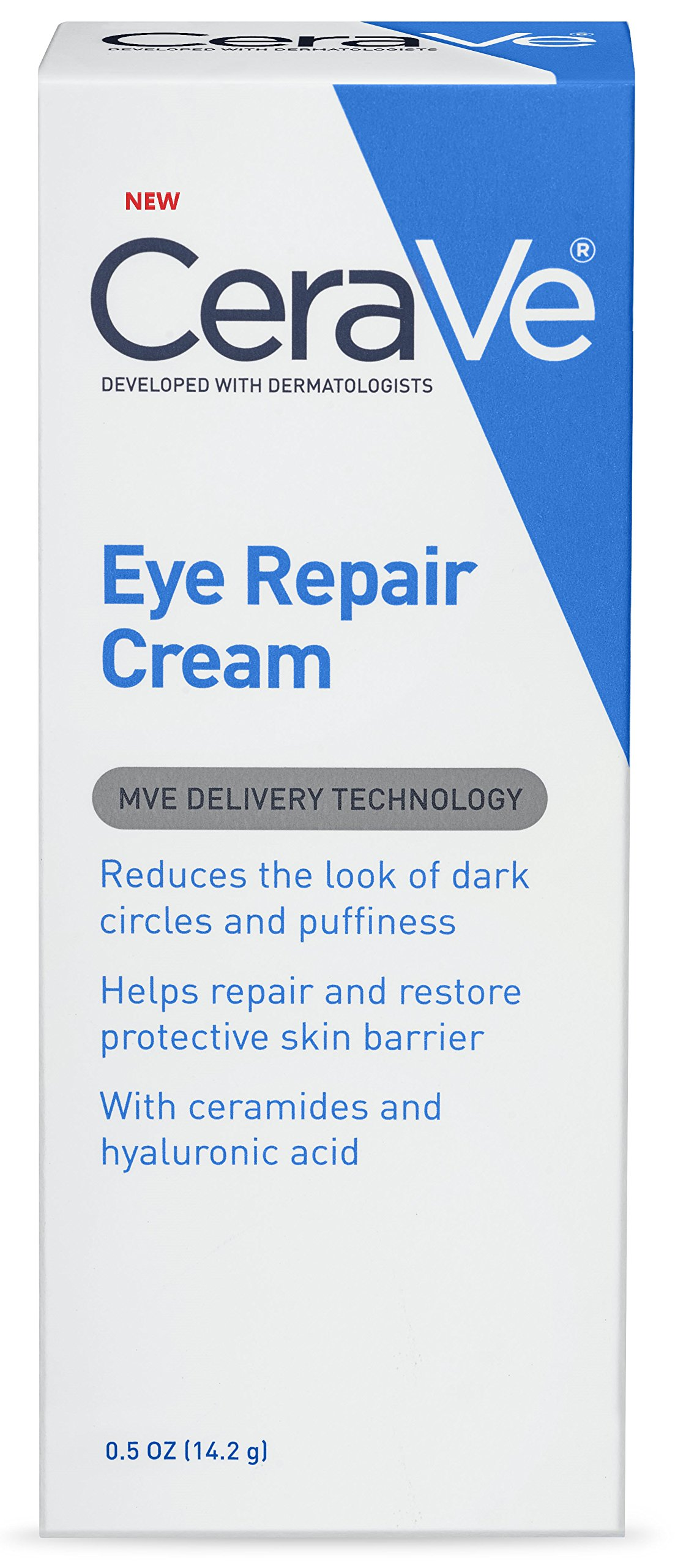 CeraVe Eye Repair Cream | 0.5 Ounce | Eye Cream for Dark Circles and Puffiness | Fragrance Free by CeraVe