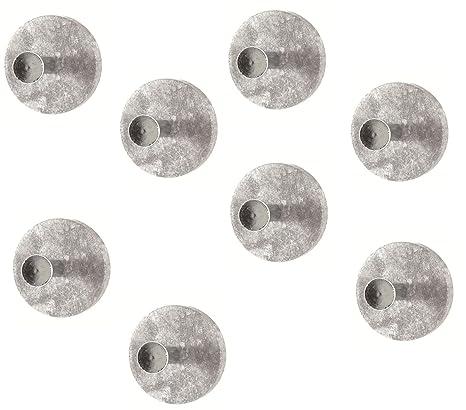 HAKU 8 Piezas Perchero botón en hormigón Opitk de Cromo ...
