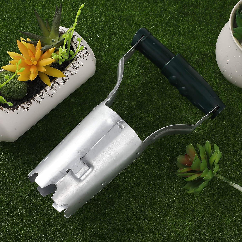 flower bulb planter AUXSOUL Onion planter garden automatic planter for setting bulbs bulb planter tool garden hand held bulb planter.
