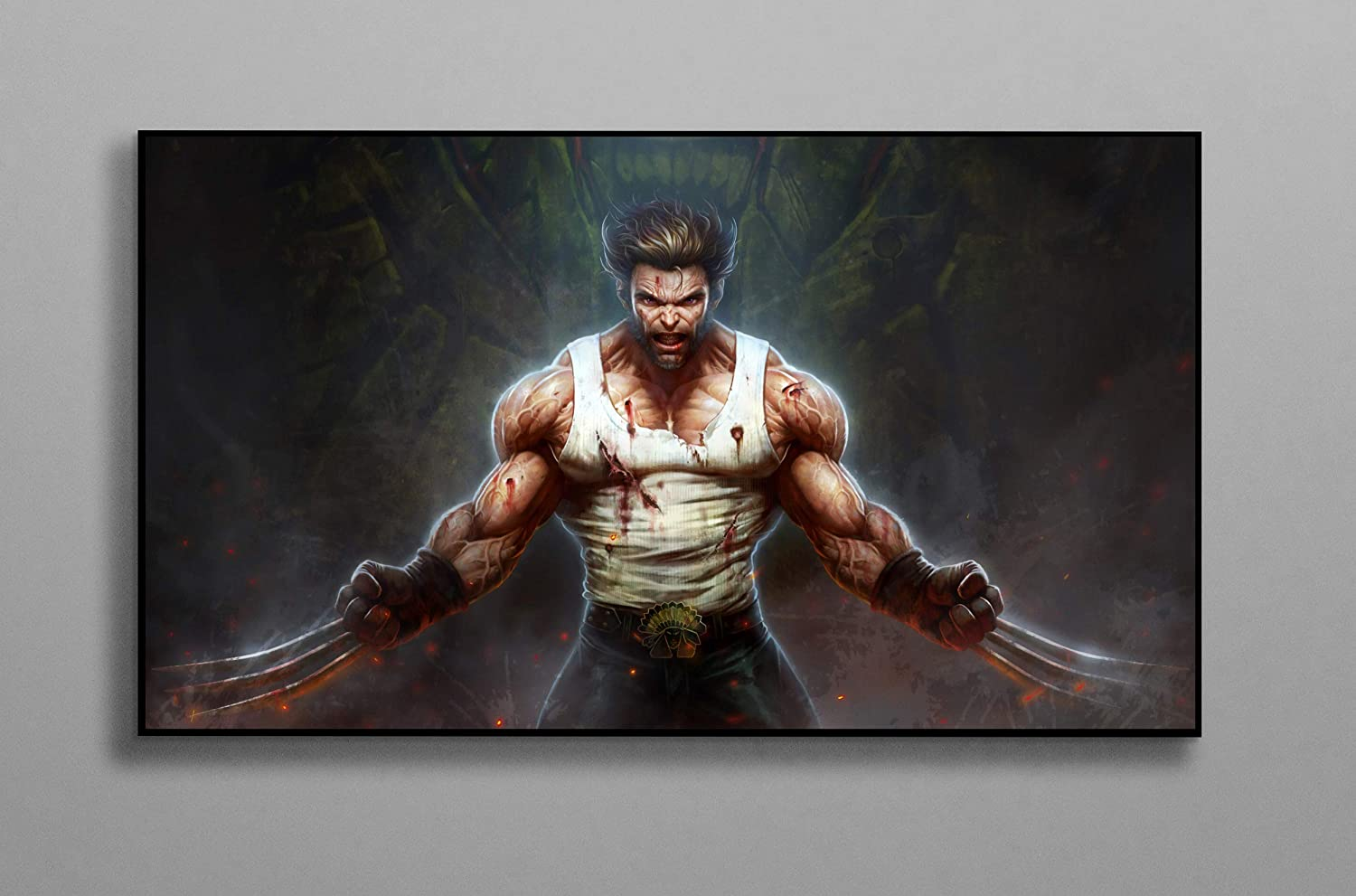 Marvel Comics Wolverine Poster Print Canvas Poster Wall Decor Art Wall Art Print Gift Poster Unframed Printing Size - 11