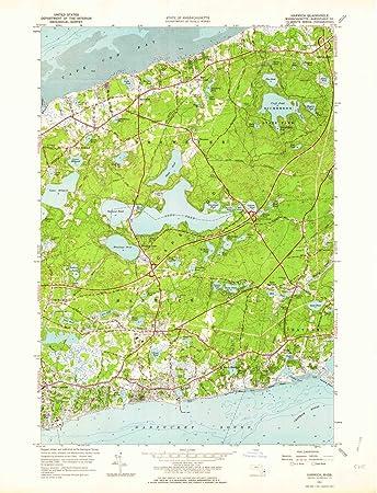Amazon.com : YellowMaps Harwich MA topo map, 1:24000 Scale ...