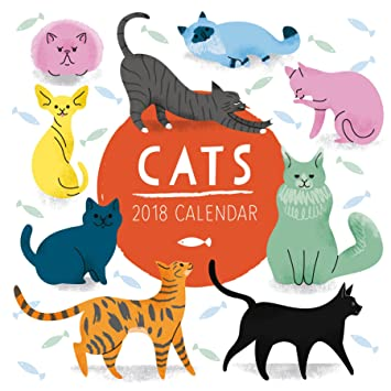 Gatos Square calendario familiar 2018