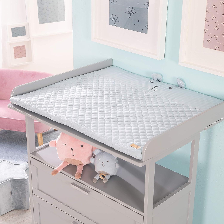 Baby-Spielzeug Babys gepolsterte Spielunterlage//Laufgittereinlage 100 x 100cm roba Spiel- /& Krabbeldecke Adam /& Eule mehrfarbig 100/% Baumwolle inkl
