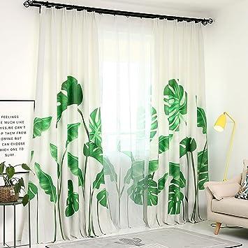 Amazon.de: JINZA Pflanzen Wohnzimmer Schlafzimmer Vorhangstoff ...