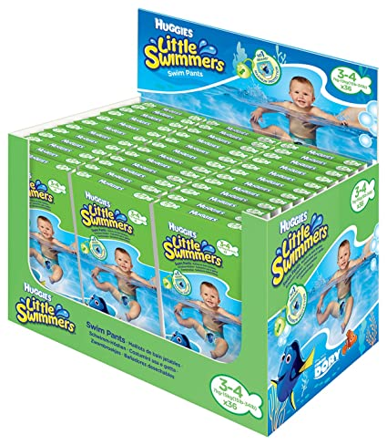 HUGGIES Little Swimmers desechables Bombón nadar, tamaño 3 – 4, 36 unidades
