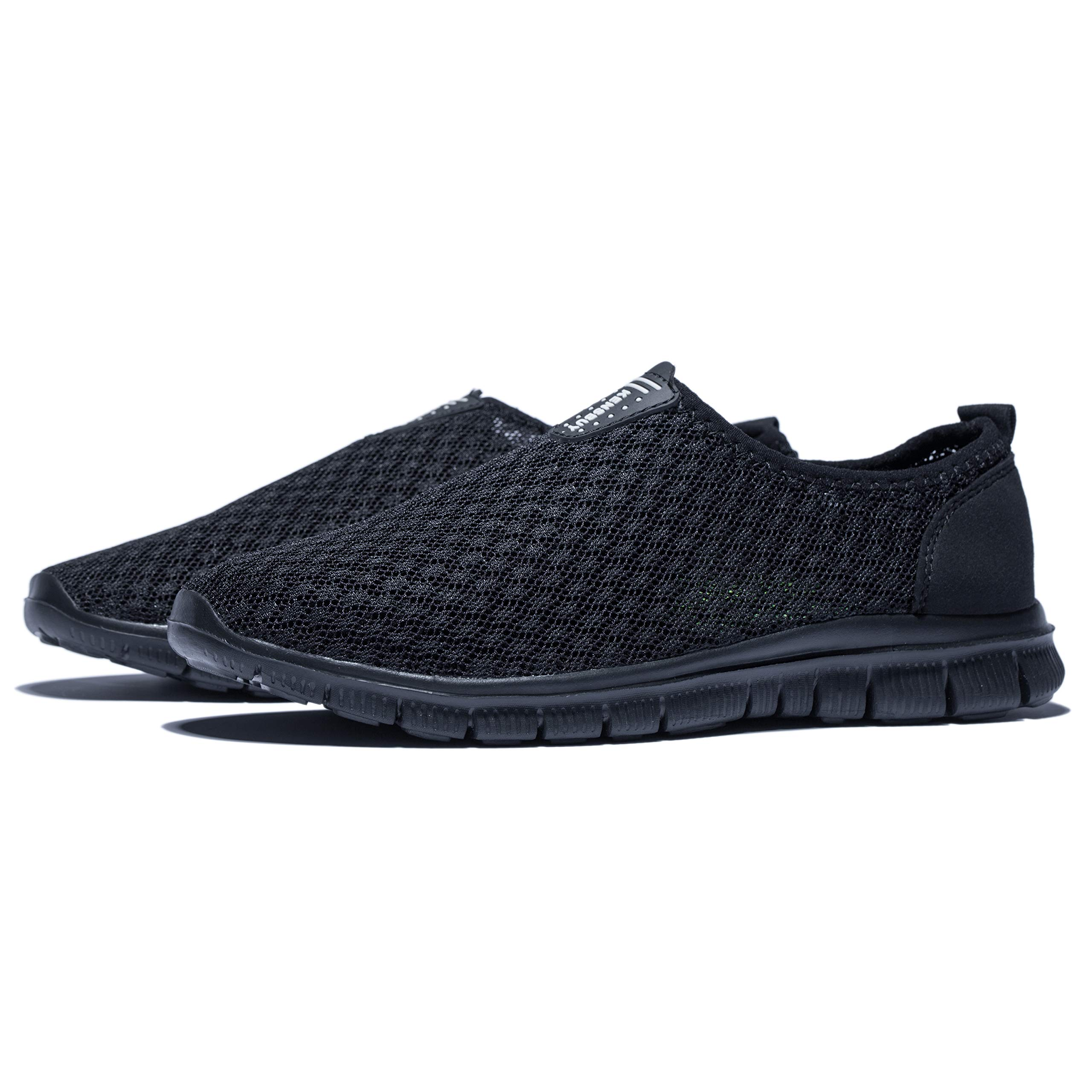 KENSBUY Mens Breathable and Durable Sports Running Shoes Lightweight Mesh Walking Sneakers (8 M US Men, Black/Black) by KENSBUY (Image #7)