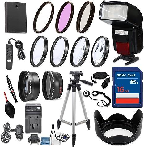 58 mm 16 piezas Kit de accesorios para Canon EOS Rebel T6, T5, T3 ...