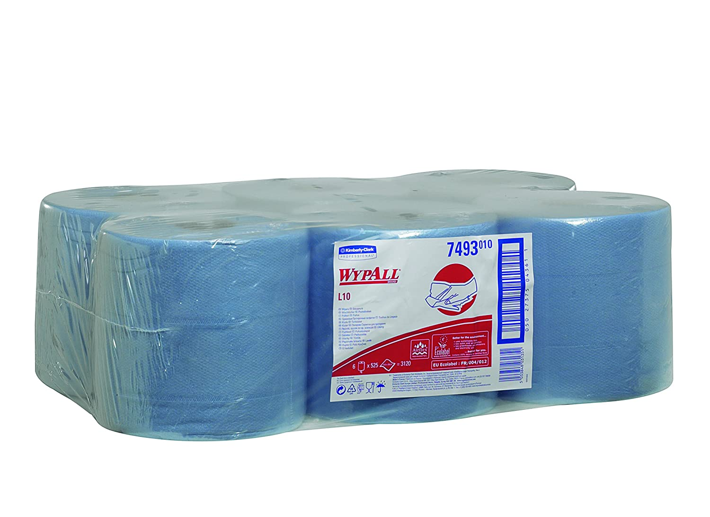 Wypall 7493 Paños Dispensación Central Roll Control, 6 Rollos X 525 Paños, 1 Capa, Azul: Amazon.es: Industria, empresas y ciencia