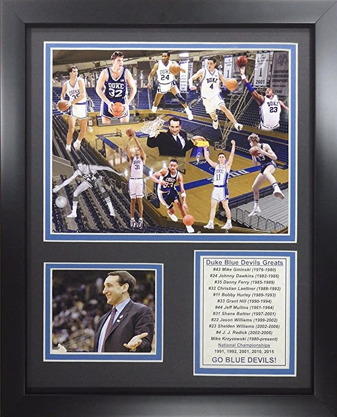 11x14 FRAMED DUKE BLUE DEVILS COACH K NCAA 5X NATIONAL CHAMPIONS 8X10 PHOTO At Amazons Sports Collectibles Store