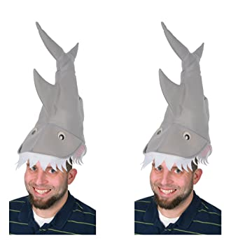 3a9749d505c52 Amazon.com  Beistle S60237AZ2 plush shark hat Multicolored  Kitchen ...