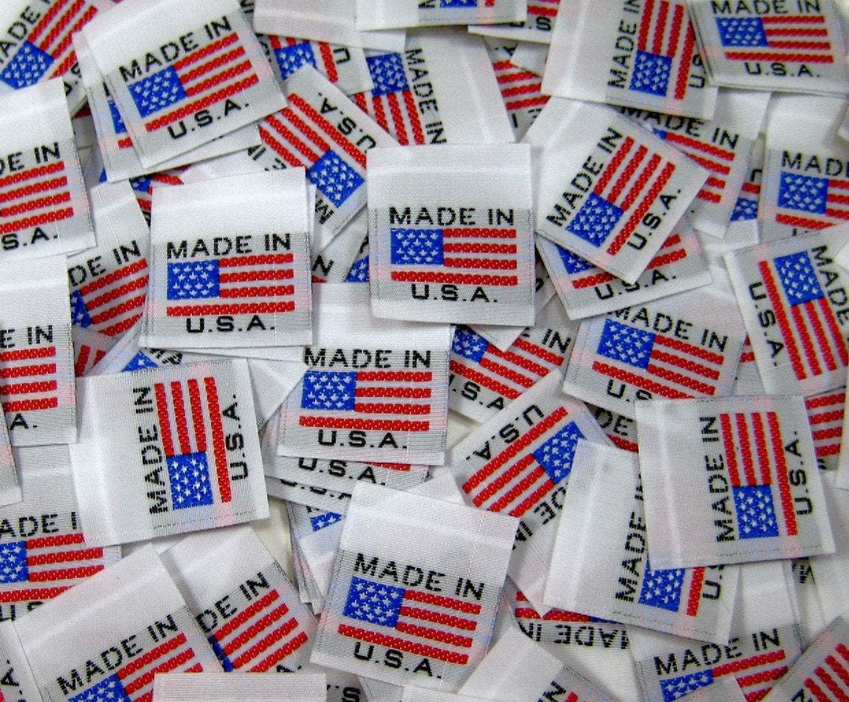 250 PCS SIZE 1 3 5 7 9 11 13 15 17  WHITE CLOTHING WOVEN LABEL SIZE TAGS