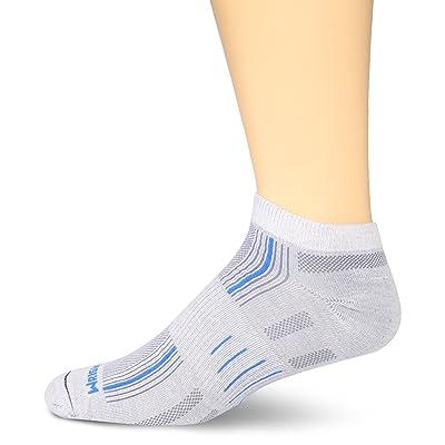 WrightSock Men's Stride Lo Single Pack, Lite Grey/Blue Stripe, Sock Size:10-13/Shoe Size: 6-12 at Amazon Men's Clothing store: Athletic Socks