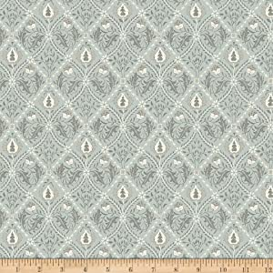 Morris & Co. Mineral Pure Trellis Mint Fabric by The Yard