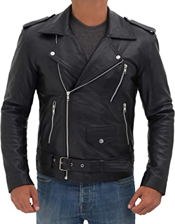 Men/'s Fashion Casual Wear Sheep Skin Biker Riding Genuine Real Leather Jacket